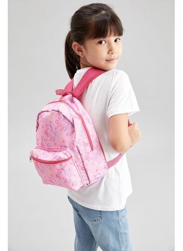 DeFacto Kız Çocuk Unicorn Baskılı Sırt Çantası Renkli